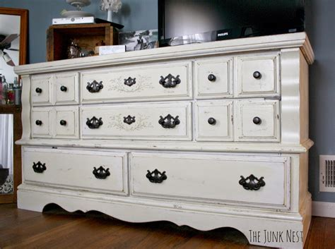 Painting Dresser by The Junk Nest Diy Chalk Painted Dresser A Review