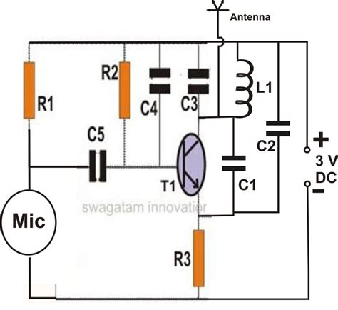 how to make bug transmitter circuit