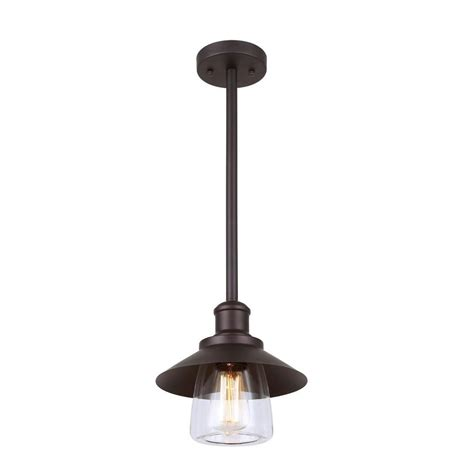 Canarm Indi 1 Light Bronze Pendant With Clear Glass Bronze Pendant Lights