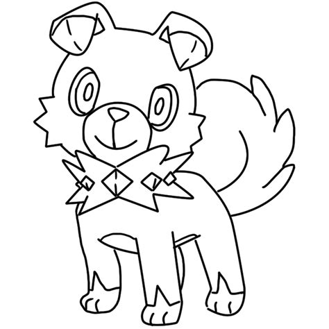 moon rock coloring page rockruff coloring page by bellatrixie white on deviantart
