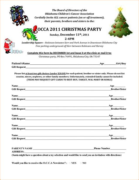 christmas sign up sheet 6 sign up sheet template authorizationletters org