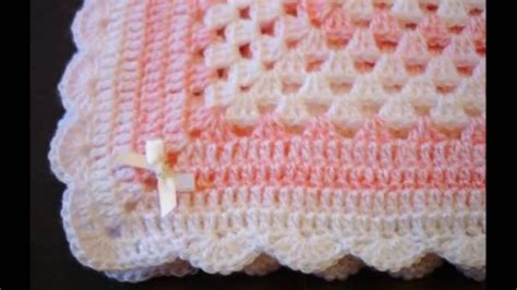 como hacer colchas para bebe mantas para bebe tejidas crochet parte 1 youtube
