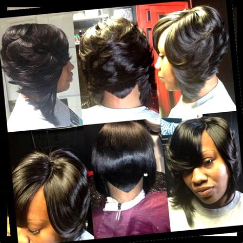 27 piece feathered bob what hair feathered bobs hairstyles with bump collection hair