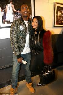 celebrity rap couples nicki minaj and meek mill look every bit the happy couple