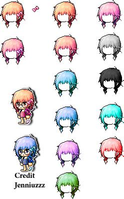maplestory mix hair giveaway by jenniuzzz on deviantart - Maplestory Giveaway