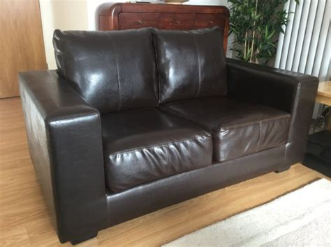 comfy two seater sofa comfortable 2 seater brown leather style sofa for sale in