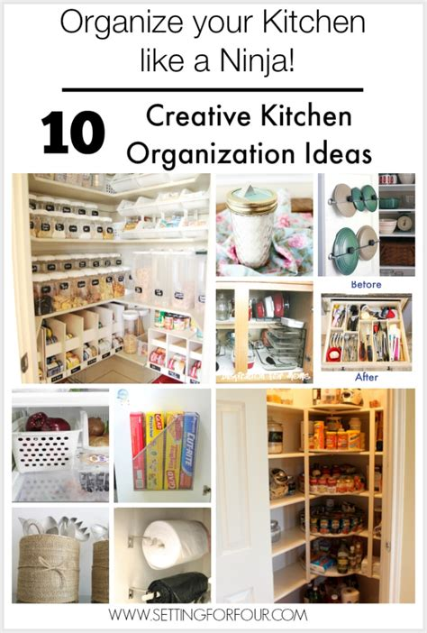 kitchen organization ideas budget diy cable storage box organizer setting for four