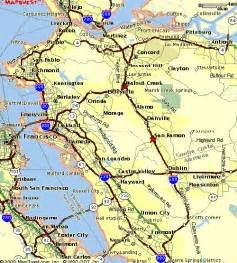 east bay ca county map images