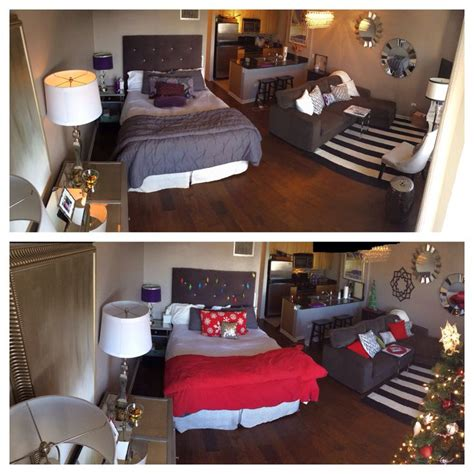 before and after decor before and after christmas decorating in a small studio