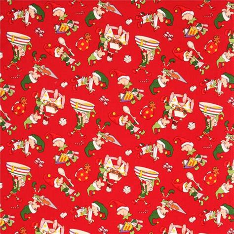 Note1 By Mikay Shop baking fabric mrs claus kitchen