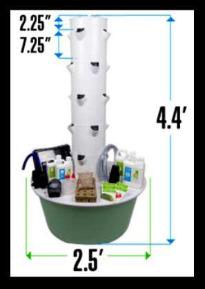 tower garden dimensions tower garden juice  tower