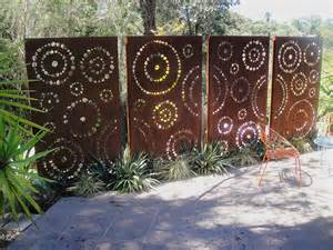 Metal Garden Screen Trellis Custom Cut Metal Panels Garden Laser Cut Screen