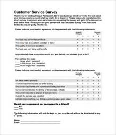 customer service survey template free restaurant survey template 5 free documents in