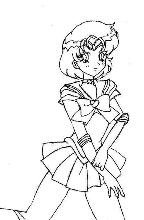 sailor mercury coloring page by utter moquerie on deviantart