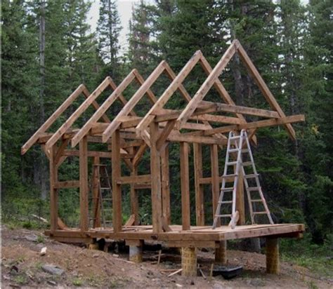 Small Timber Frame Cabin by Timber Frame Cabin