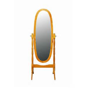 cheval free standing mirror pine