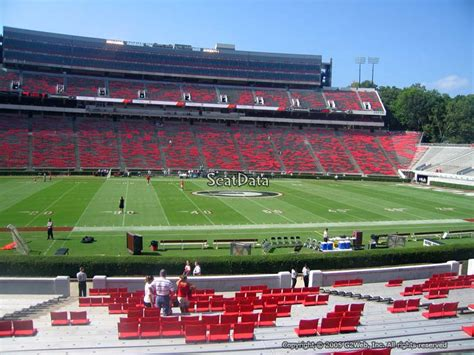 sanford stadium student section sanford stadium section 109 rateyourseats com