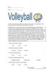 english teaching worksheets volleyball