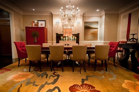 gold dining room and gold dining room with influences