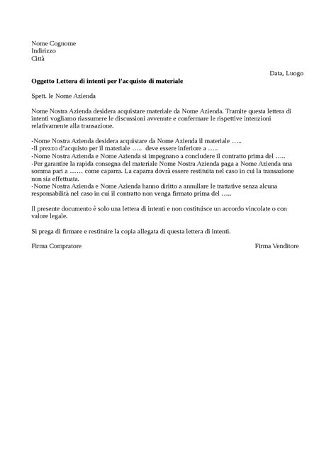 lettere di intenti modello lettera intenti curriculum vitae 2018