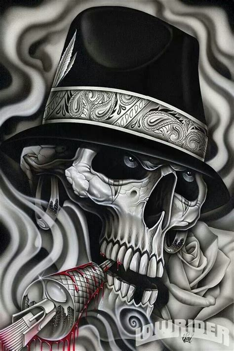 lowrider arte images the gallery for gt lowrider arte skulls