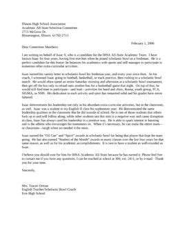 Letter Of Recommendation Kitchen Timer recommendation letter for teaching excellence award sle