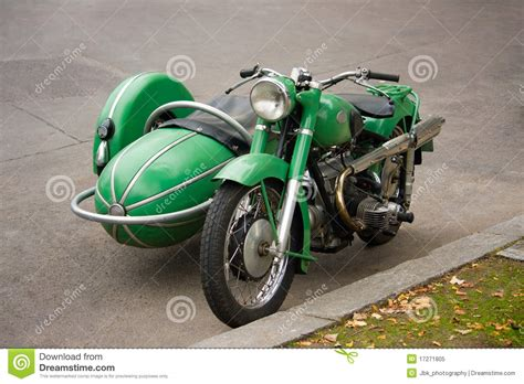 Oldtimer Motorrad Beiwagen by Old Vintage Motorcycle With Sidecar Stock Image Image