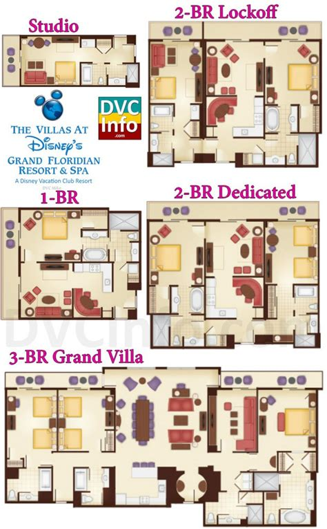 treehouse villas floor plan the villas at disney s grand floridian resort spa