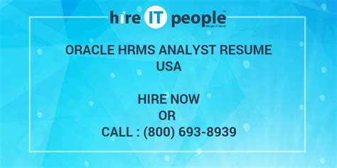 Mba H1b Leave Of Absence by Oracle Hrms Analyst Resume Hire It We Get It Done