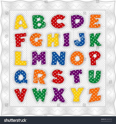 Bright From The Start Background Check Alphabet Quilt Fashioned Vintage Baby Blanket Design Pattern In Bright Polka Dots
