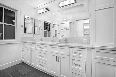 Slate Bathroom Ideas by Pure White Bathroom Griffin Custom Cabinets