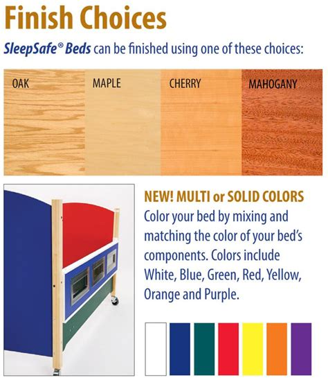 colors for sleep sleepsafe ii medium bed twin size