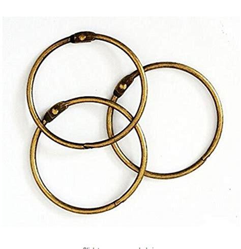 Binder Vintage Besar 26 Ring 3 pack vintage bronze heavy duty large binding ring hinged book binder ring leaf rings