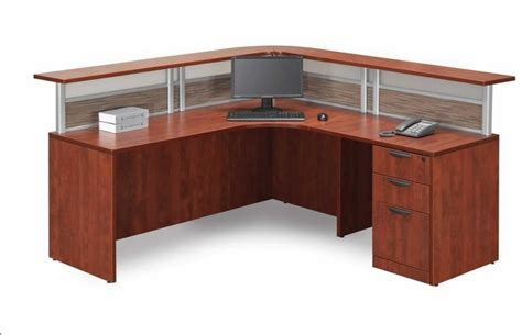 New L Shaped Office Desk W Reception Counter Counter Reception Desk