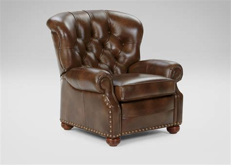 custom leather recliner cromwell leather recliner omni tobacco custom quick