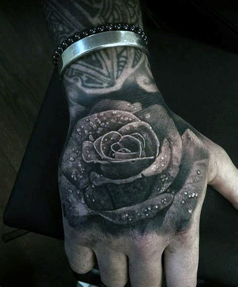 rose tattoo hand meaning black tattoos