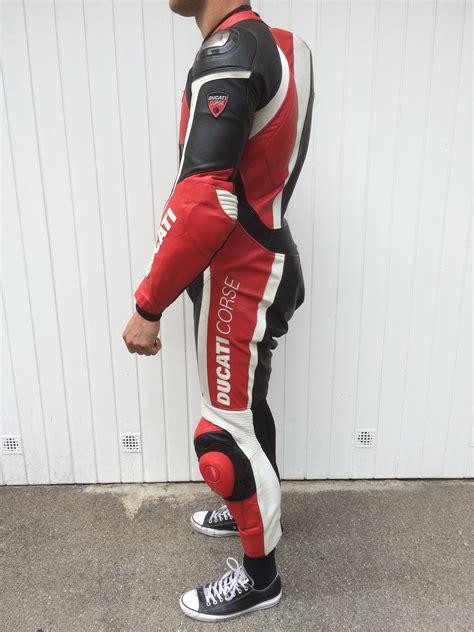 Motorradkombi Ducati by Ducati Corse Titanium Lederkombi Perforiert Gr 54