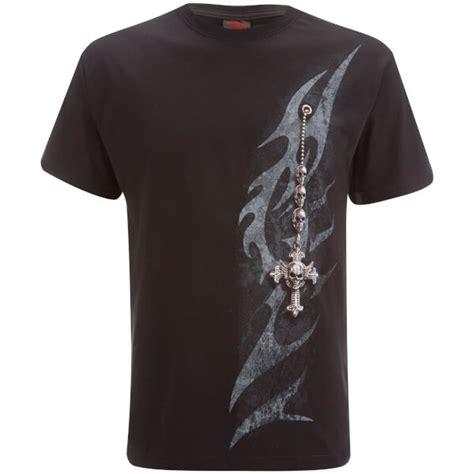 T Shirt Black Mix Tribal spiral s tribal chain t shirt black clothing zavvi
