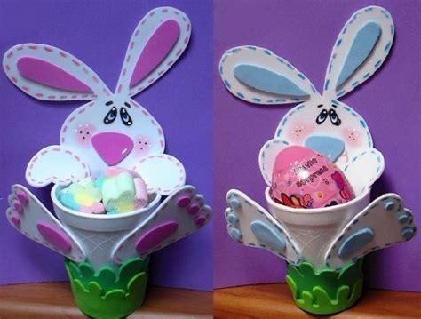 imagenes infantiles hechas en foami dulcero conejito en goma eva pap manualidades en goma