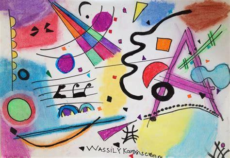 imagenes abstractas de wassily kandinsky composiciones kandinsky con tus manitas