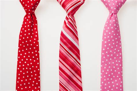 valentines day tie boys s day ties with white dots and