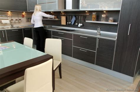 Black Kitchen Cabinets Design Ideas - pictures of kitchens modern black kitchen cabinets