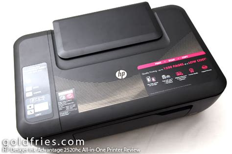 HP Deskjet Ink Advantage 2520hc All in One Printer Review