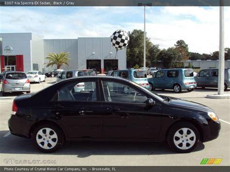2007 Kia Spectra Black 2007 Kia Spectra Ex Sedan In Black Photo No 22643744
