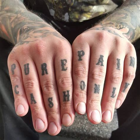knuckle tattoo font 88 badass knuckle tattoos that look powerful