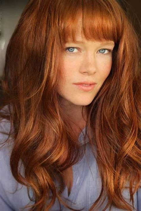 curly hairstyles and colours 30 best curly hair with bangs red hair color pinterest