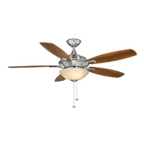 home depot 52 inch ceiling fans hton bay springview 52 in brushed nickel ceiling fan
