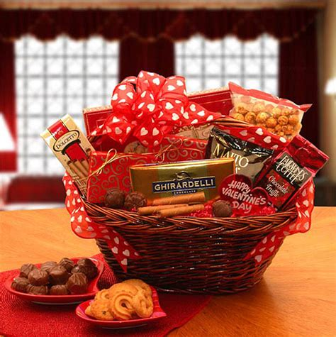 valentines gift baskets him sweet treat gift basket aa gifts baskets