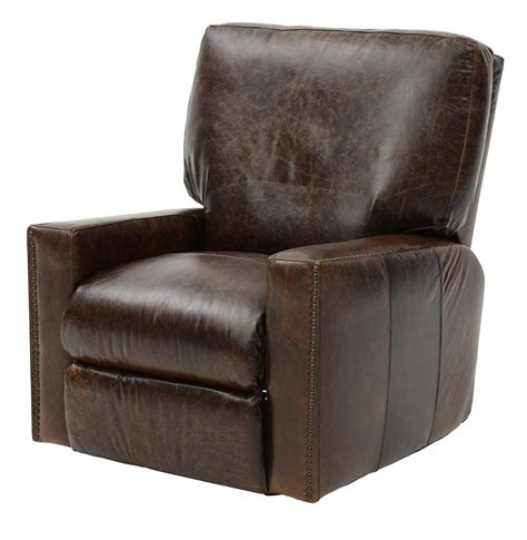 antique brown leather recliner weir s furniture