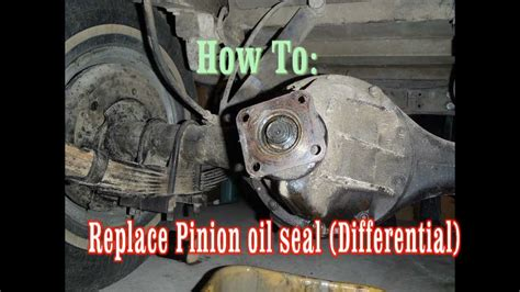 replacing a leaky pinion oil seal differential fj40 land cruiser youtube